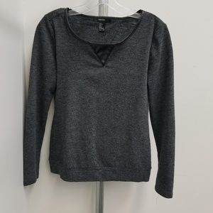 Forever 21 charcoal sweater with open back